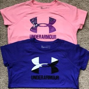 2 girls Under Armour tips